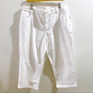 Coldwater Creek White Crop Jeans Size 14